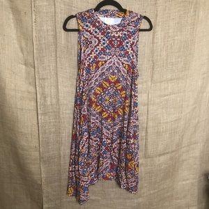Maeve Anthropologie Sleeveless Dress Print Stretch